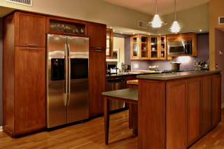 Painting Wood Kitchen Cabinets - refinish, painters, & handymen