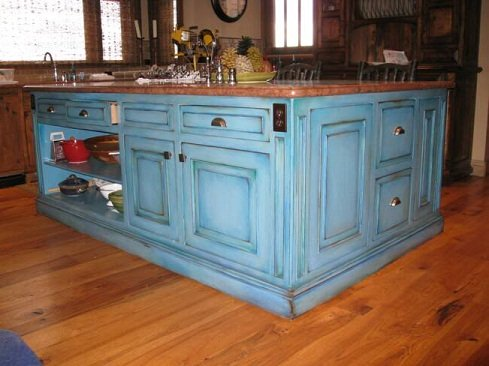 blue distressed kitchen cabinets incorporating kitchen cabinet paint colors into your 4805